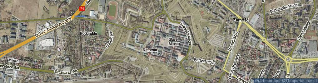 Zdjęcie satelitarne Rynek Wielki ul.