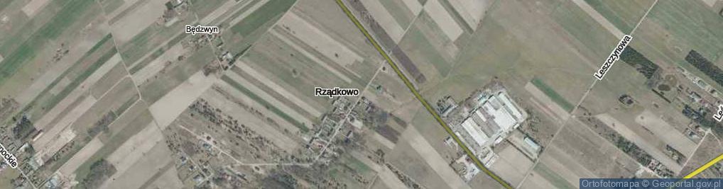 Zdjęcie satelitarne Rządkowo ul.