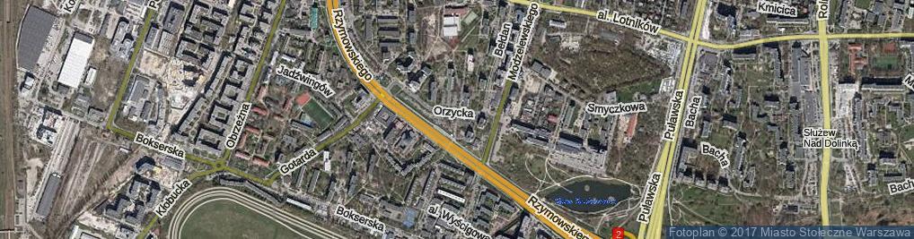 Zdjęcie satelitarne Rzymowskiego Wincentego ul.