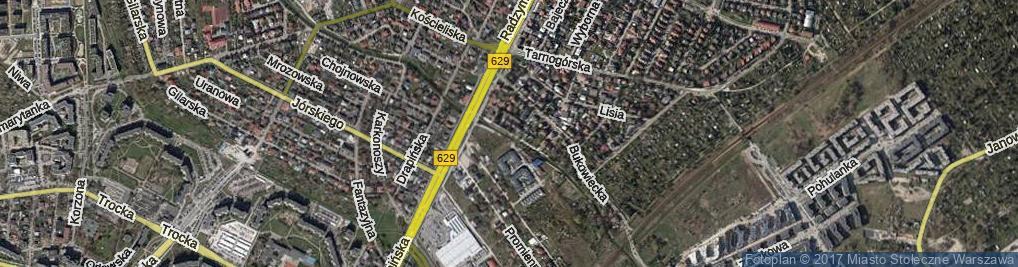 Zdjęcie satelitarne Rzewińska ul.