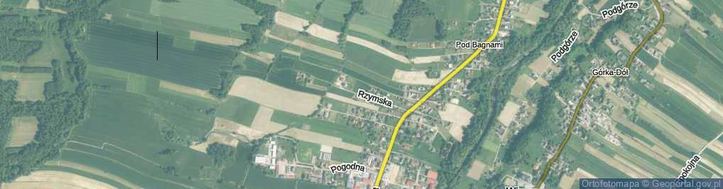 Zdjęcie satelitarne Rzymska ul.