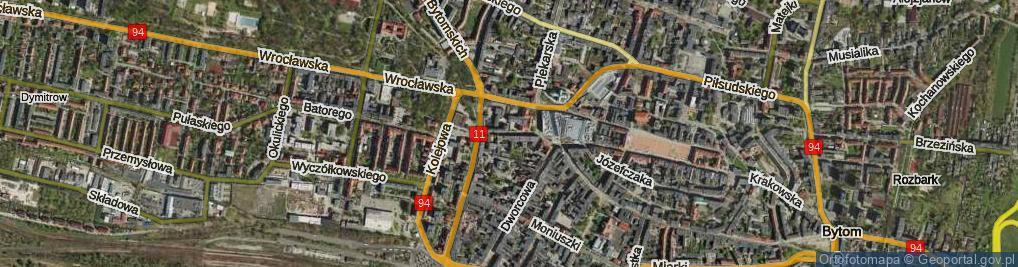 Zdjęcie satelitarne Sądowa ul.