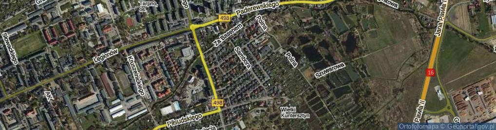 Zdjęcie satelitarne Sambora ul.