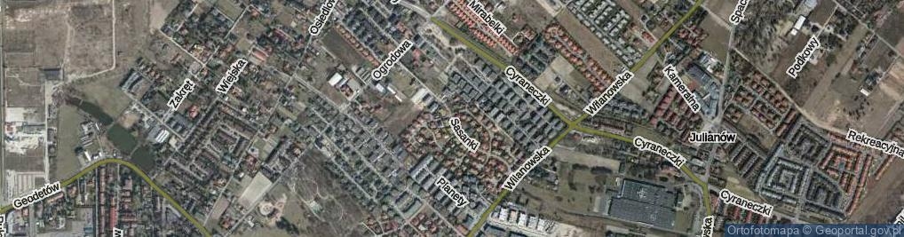 Zdjęcie satelitarne Sasanki ul.