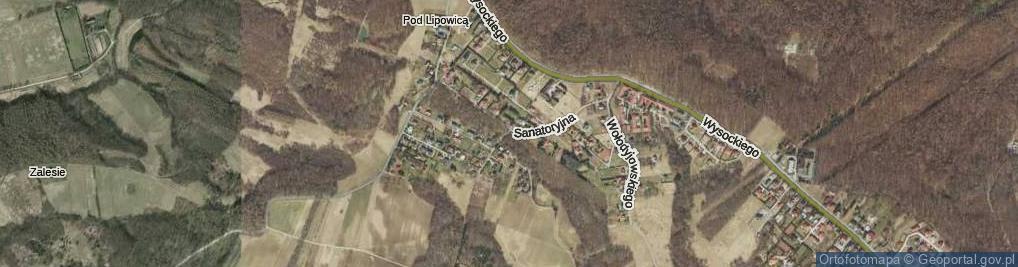 Zdjęcie satelitarne Sanatoryjna ul.