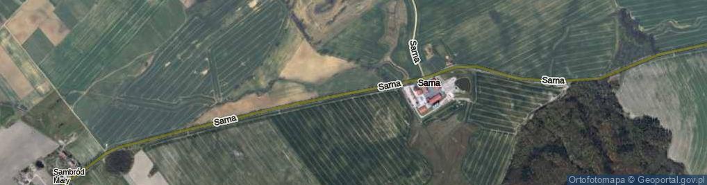 Zdjęcie satelitarne Sarna ul.