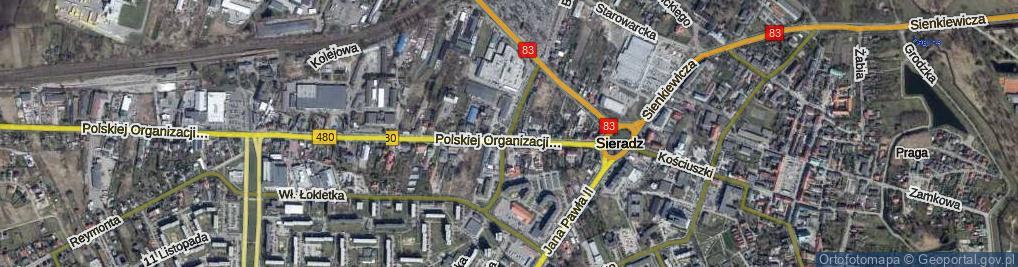 Zdjęcie satelitarne Sarańska ul.