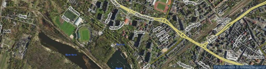 Zdjęcie satelitarne Sąsiedzka ul.