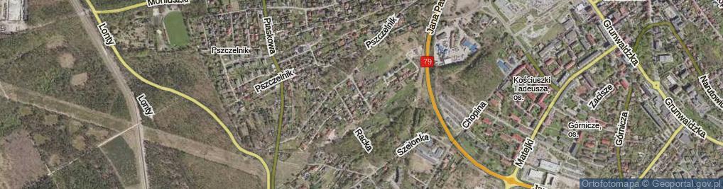 Zdjęcie satelitarne Schattanka Franciszka ul.
