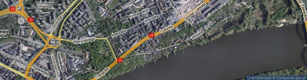 Zdjęcie satelitarne Ścieżka Szkolna ul.