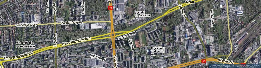 Zdjęcie satelitarne Sczanieckiego Michała ul.