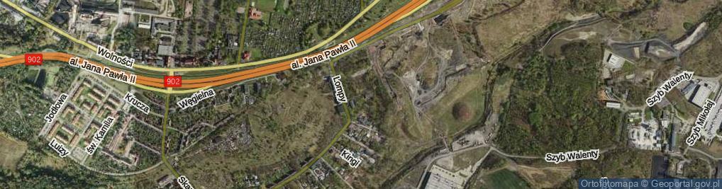 Zdjęcie satelitarne Ścieżka Górnicza ul.