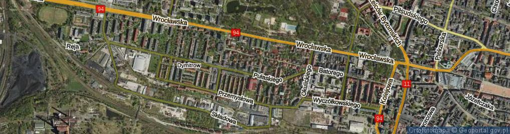 Zdjęcie satelitarne Sendlerowej Ireny ul.