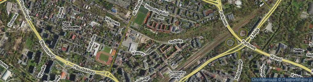 Zdjęcie satelitarne Sedlaka Włodzimierza, ks. ul.