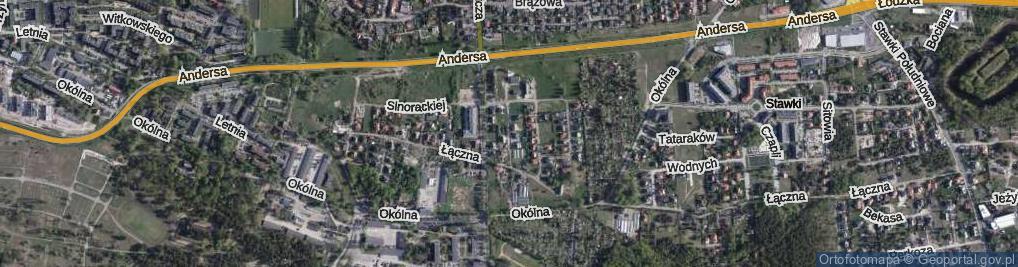 Zdjęcie satelitarne Sędziaka Stanisława ul.
