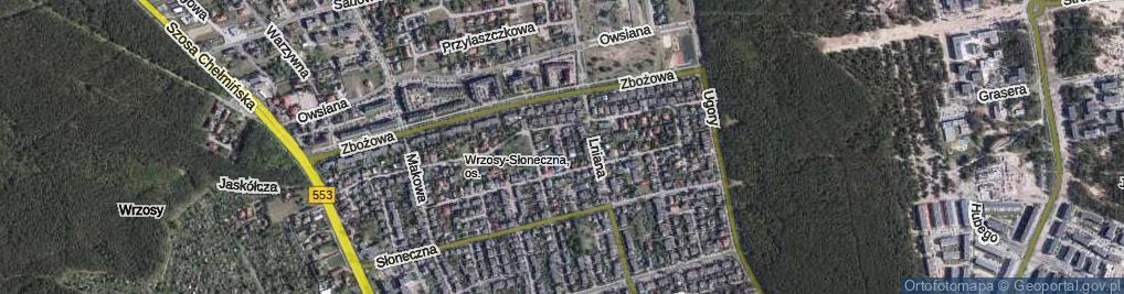 Zdjęcie satelitarne Selerowa ul.