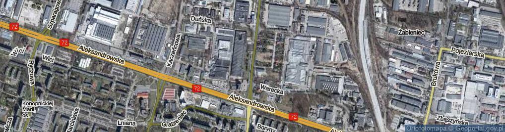 Zdjęcie satelitarne Sierpowa ul.