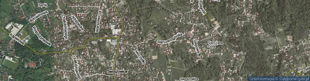Zdjęcie satelitarne Siarczanogórska ul.
