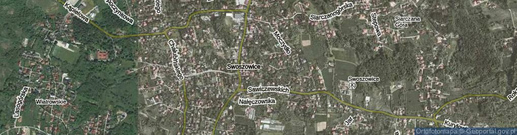 Zdjęcie satelitarne Siarczki ul.