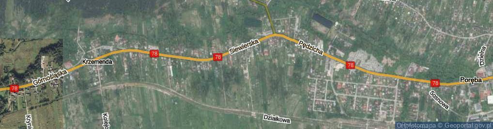 Zdjęcie satelitarne Siewierska ul.