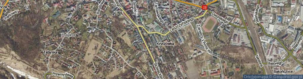Zdjęcie satelitarne Sierakowskiego Zygmunta ul.