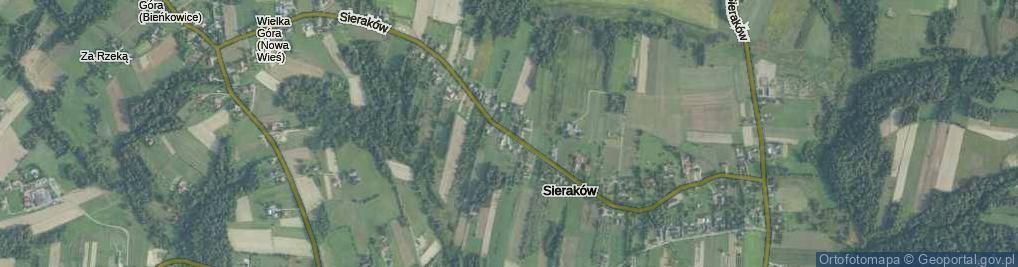 Zdjęcie satelitarne Sieraków ul.