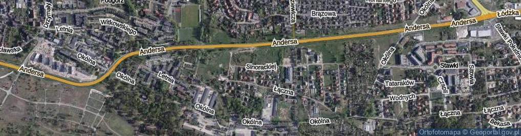 Zdjęcie satelitarne Sinorackiej Melanii ul.