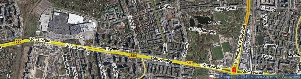 Zdjęcie satelitarne Siedzikówny Danuty ul.