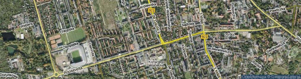 Zdjęcie satelitarne Sierotki ul.