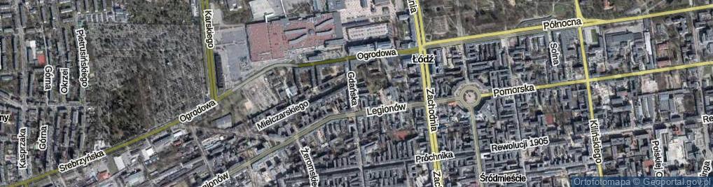 Zdjęcie satelitarne Skwer Gdański skw.