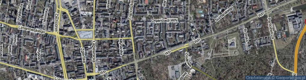 Zdjęcie satelitarne Skury-Skoczyńskiego Bronisława, por. ul.