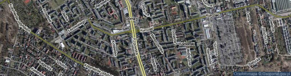 Zdjęcie satelitarne Skupiona ul.