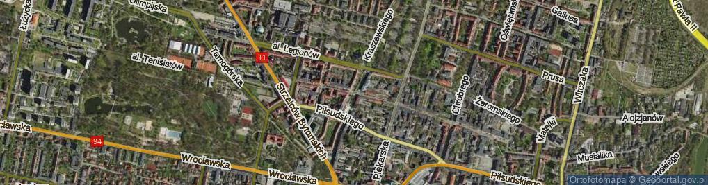Zdjęcie satelitarne Skwer Bartosika Tadeusza, pkom. skw.