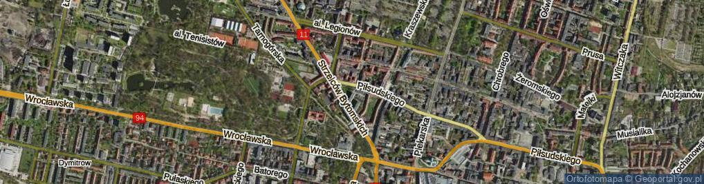 Zdjęcie satelitarne Skwer Kobierskiego Leopolda skw.