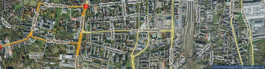 Zdjęcie satelitarne Skwer Sybiraków skw.