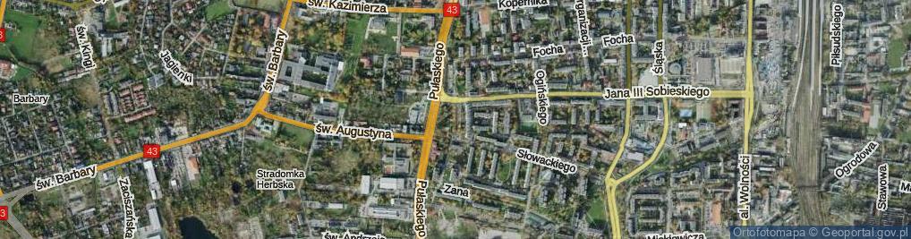 Zdjęcie satelitarne Skwer Sokołów skw.