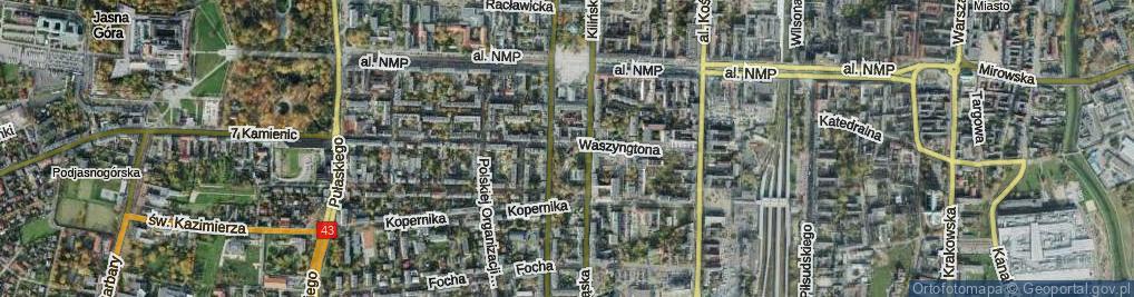 Zdjęcie satelitarne Skwer Solidarności skw.