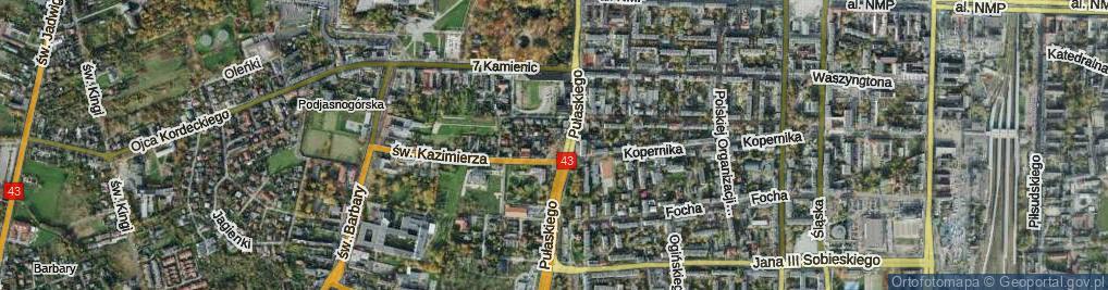 Zdjęcie satelitarne Skwer Łęskiego, dh. skw.