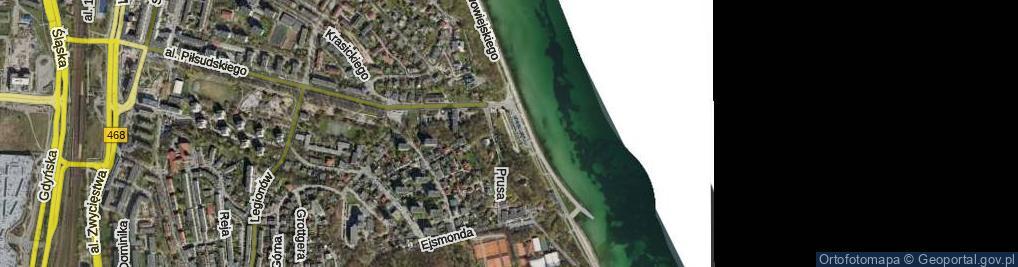 Zdjęcie satelitarne Skwer Arki Gdynia skw.