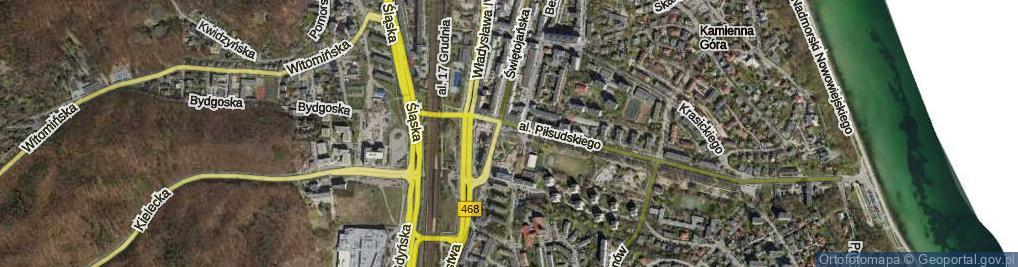 Zdjęcie satelitarne Skwer Plymouth skw.