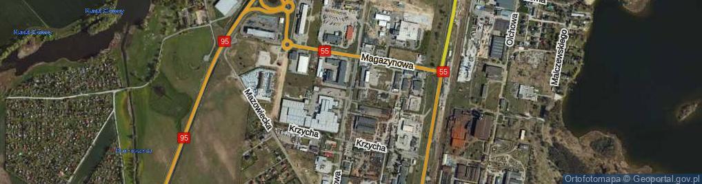 Zdjęcie satelitarne Składowa ul.