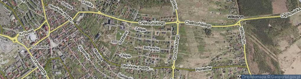 Zdjęcie satelitarne Skowronków ul.