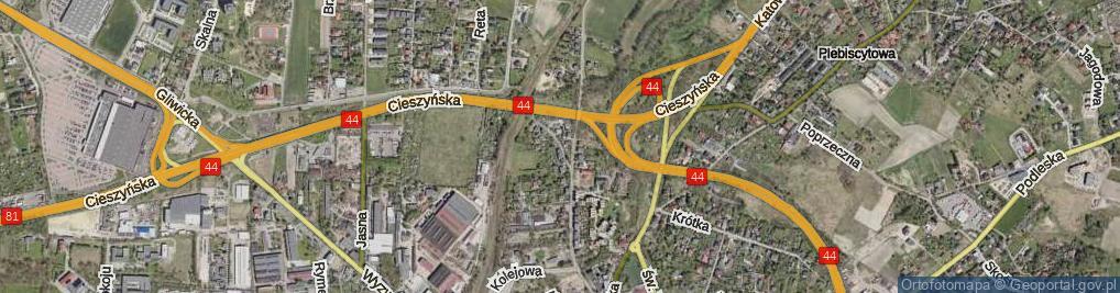 Zdjęcie satelitarne Skrajna ul.