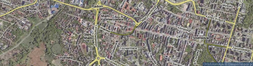 Zdjęcie satelitarne Skwer Unii Wileńsko-Radomskiej skw.