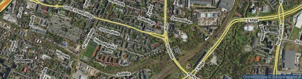 Zdjęcie satelitarne Skwer Strzeleckiego Jana Antoniego skw.