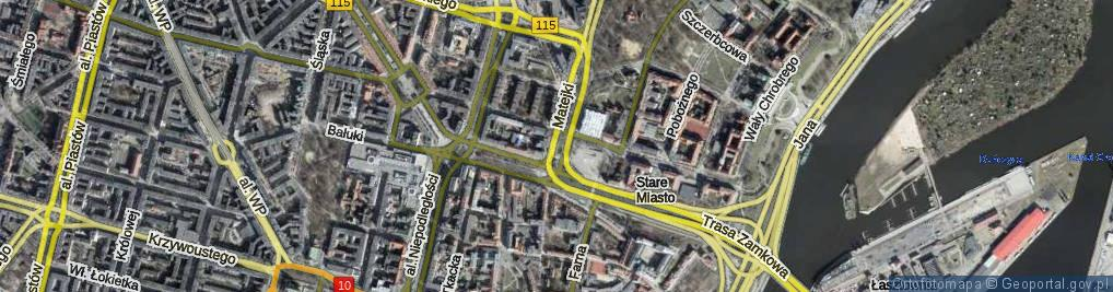 Zdjęcie satelitarne Skwer Kaczyńskiego Lecha, prezydenta RP skw.