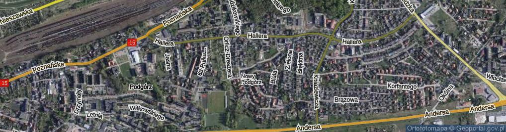 Zdjęcie satelitarne Skryta ul.