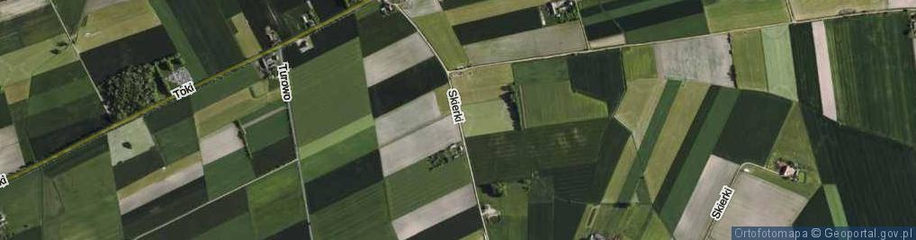Zdjęcie satelitarne Skierki ul.