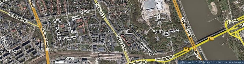 Zdjęcie satelitarne Skwer Bergera Ludwika skw.