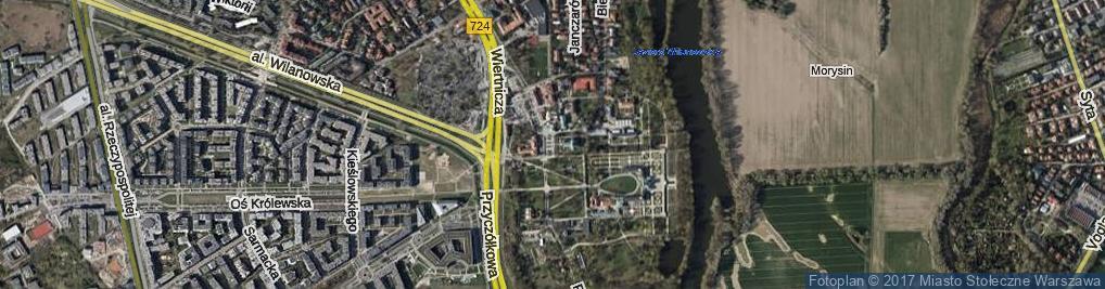 Zdjęcie satelitarne Skwer Prymasowski skw.